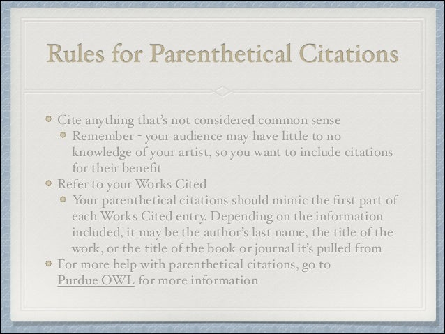 how to use parenthetical citations in an essay