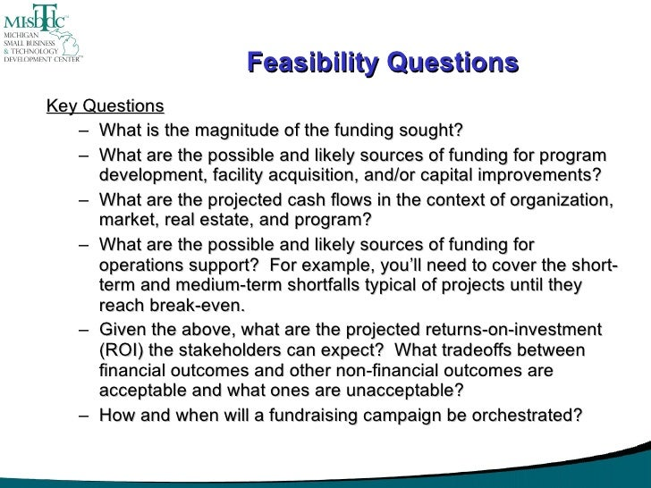 Five Questions a Feasibility Study Should Answer