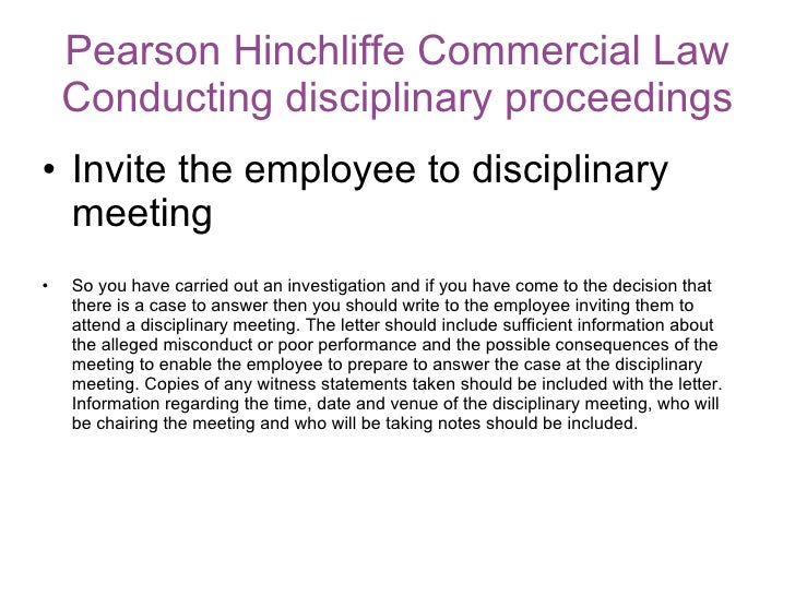 How To Conduct A Disciplinary Hearing Referencing The ACAS Code Of C