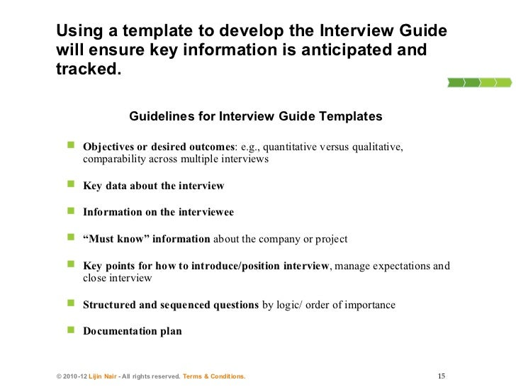 ... Guide Template Qualitative Research How To Conduct Consulting Interviews  ...