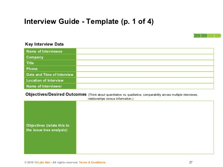 How To Conduct Consulting Interviews