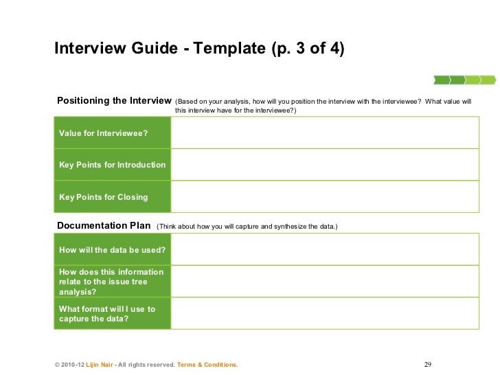 How to conduct consulting interviews 28 29 planning and positioning the interviewinterview guide template maxwellsz