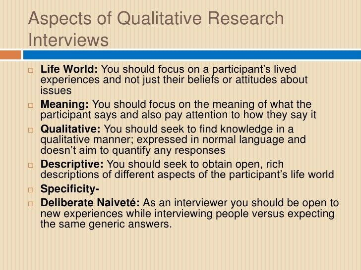 what are guidelines for qualitative research