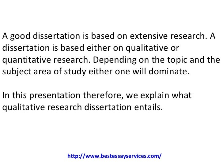 What is qualitative research dissertation