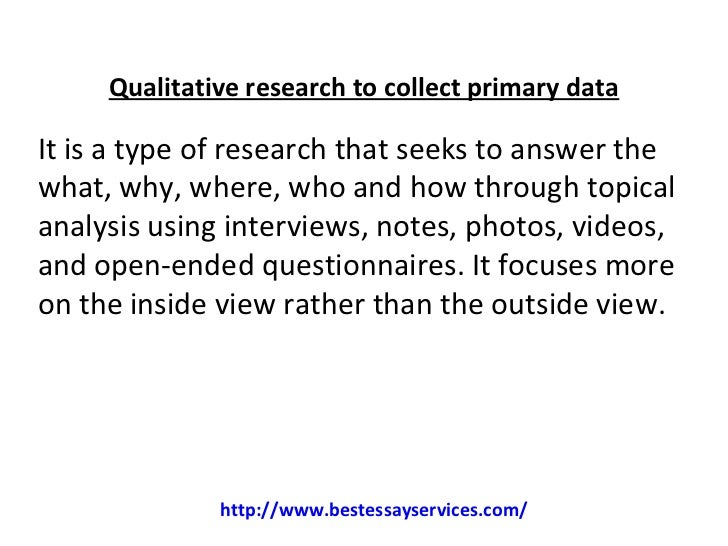 types of qualitative dissertations Using secondary data in doctoral research   and types of data collection proposed (simon & goes  this may be less difficult with some qualitative designs, like.
