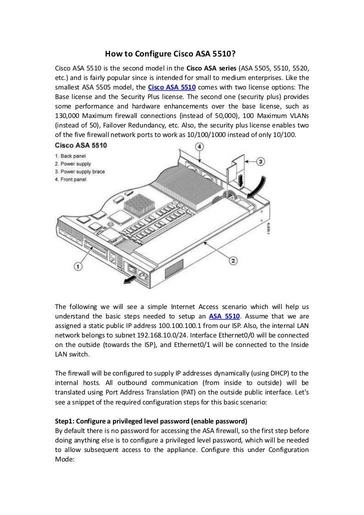 How to configure cisco asa 5510