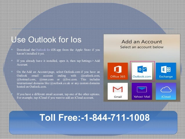 how to use hotmail on iphone