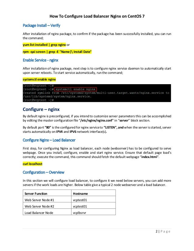 How To Configure Nginx Load Balancer on CentOS 7