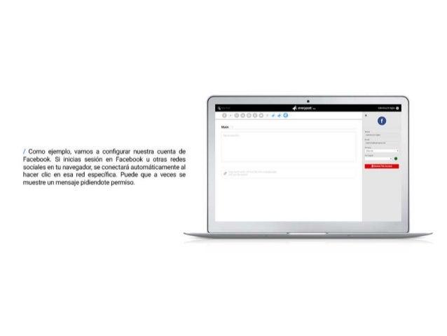 / Como ejemplo.  vamos a configurar nuestra cuenta de Facebook.  Si inicias sesion en Facebook u otras redes  sociales en ...