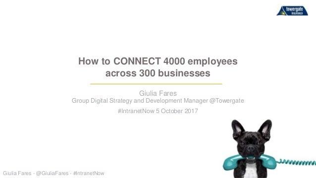 Giulia Fares - @GiuliaFares - #IntranetNow Giulia Fares Group Digital Strategy and Development Manager @Towergate #Intrane...