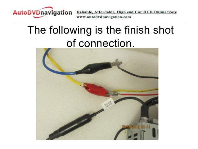 how to connect the power supply to test a car dvd player before insta rh slideshare net pioneer car dvd player wiring diagram car dvd player wiring diagram