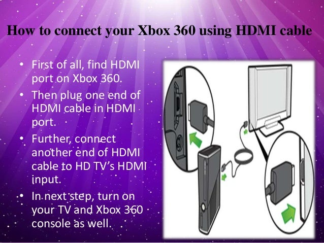How to connect the Xbox 360 console to a TV