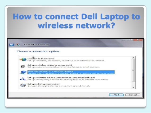 How To Connect Wi Fi With Dell Laptop