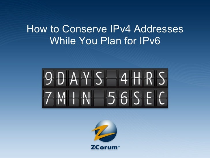 How to Conserve IPv4 Addresses While You Plan for IPv6