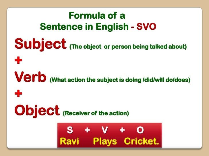 How to construct sentences in English
