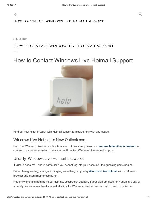 how to add a live chat button to windows live mail provide support