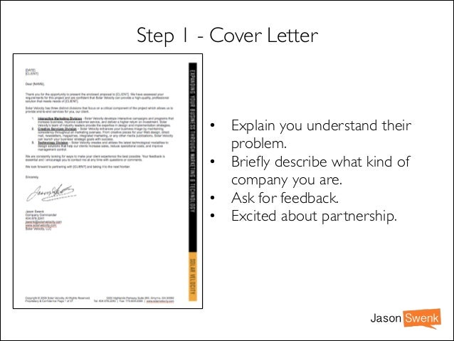 Jason Swenk; 15.  Marketing Proposal Letter