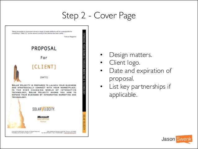 How to Create a MARKETING PROPOSAL