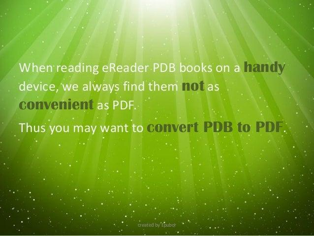 pdb to pdf converter online