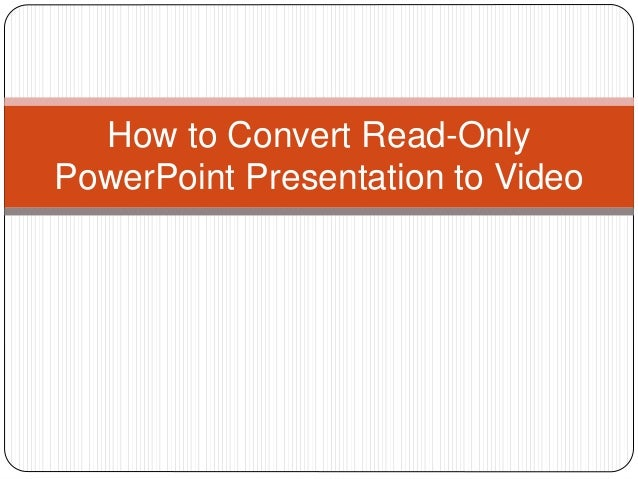 convert pdf presentation to video