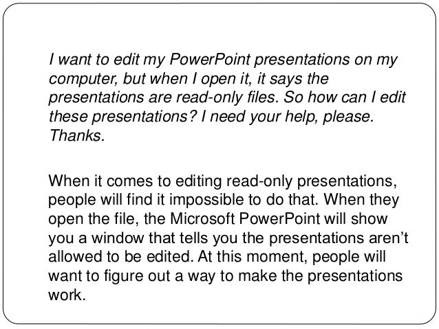 undo read only powerpoint