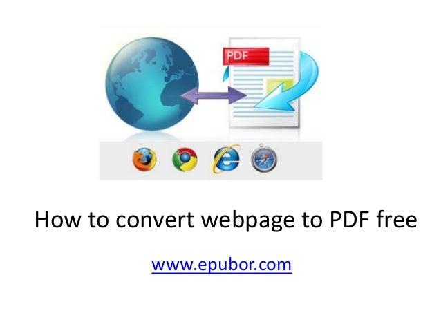 How to convert webpage to PDF free www.epubor.com