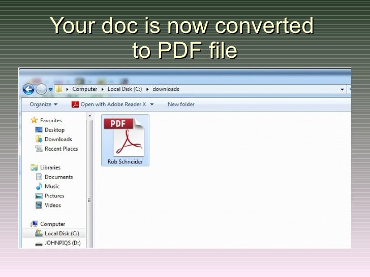 software to convert doc to pdf