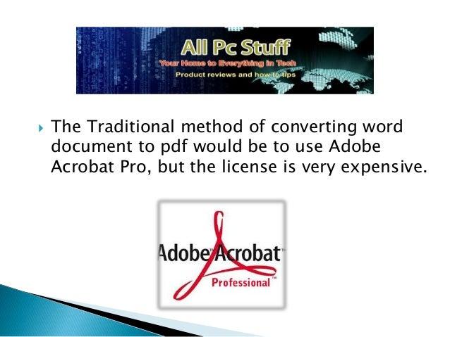 free convert adobe pdf to word document