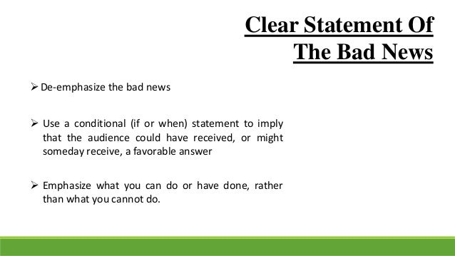 How to communicate bad news effectively essay
