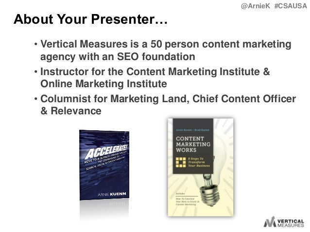 How to Convince Your Boss to Invest in Content Marketing with Arnie Kuenn Slide 2