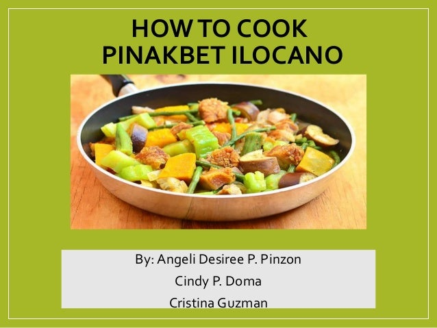 How To Cook Pinakbet Ilocano