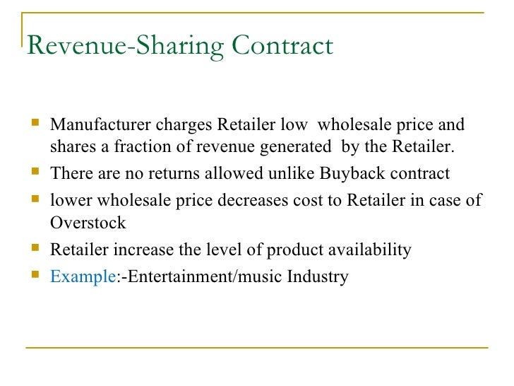 Revenue Share Contract Example