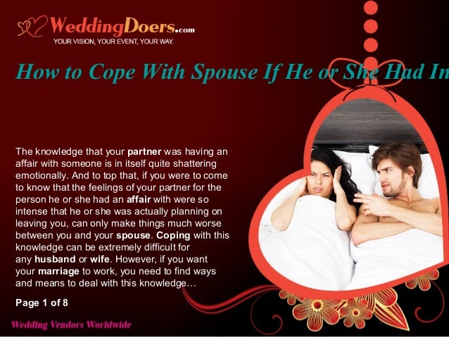 Coping With An Affair By Spouse