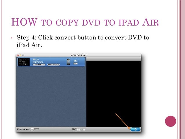 how to put dvd on ipad air