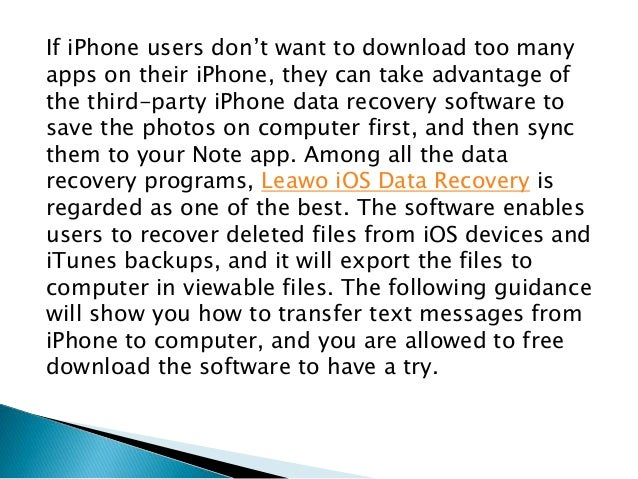 how to download text messages from iphone to computer