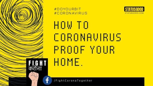 How To Coronavirus Proof Your Home