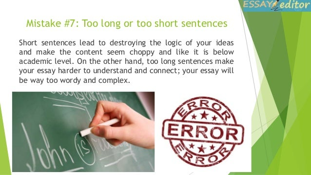 how to correct mistakes in your essay mistake