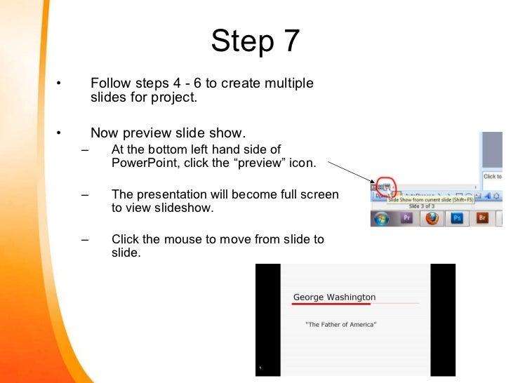 Do a presentation or make a presentation