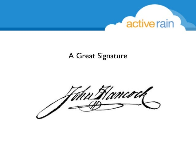 how to write a good signature