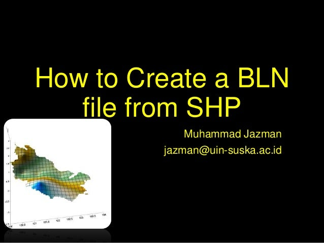 How to create a bln file from shp