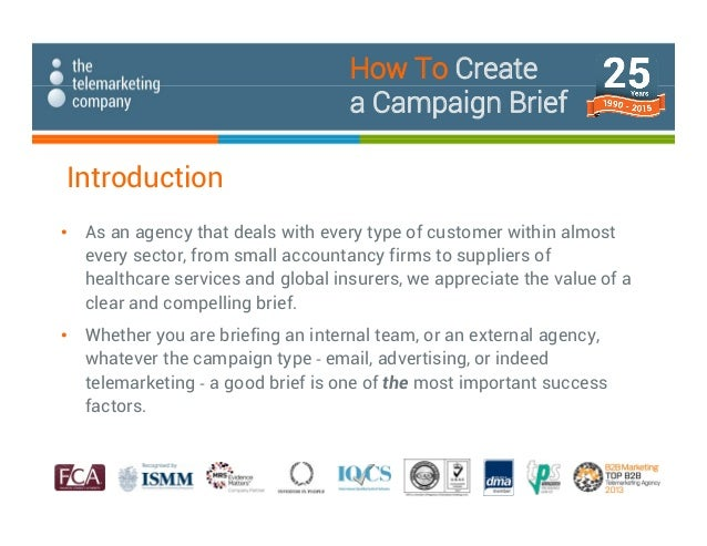 how to create a campaign brief 2