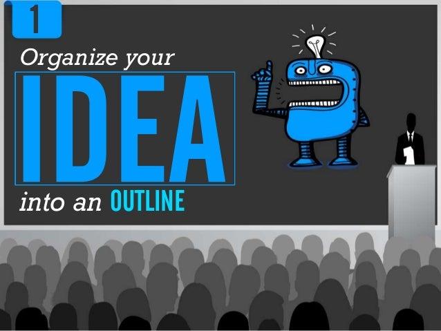 Organize yourinto an OUTLINE1