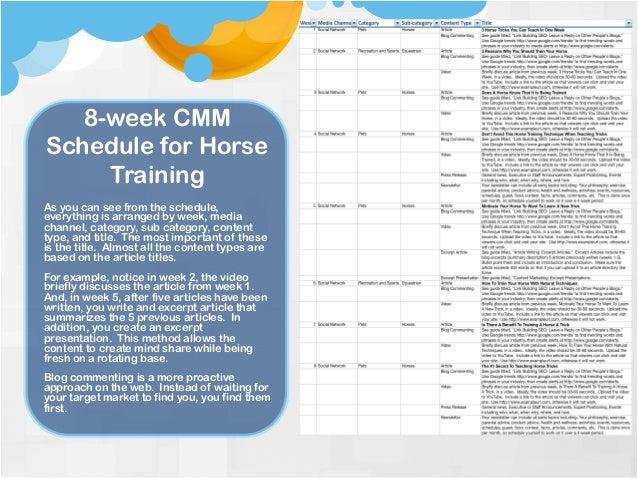 Horse training business plan