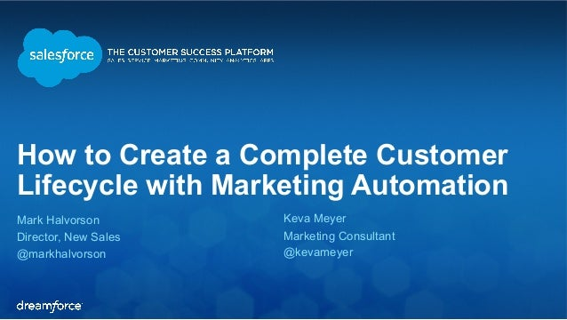 How to Create a Complete Customer  Lifecycle with Marketing Automation  Mark Halvorson  Keva Meyer  Director, New Sales  M...