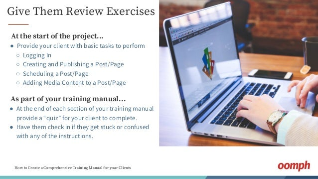 how to create a comprehensive training manual for your clients