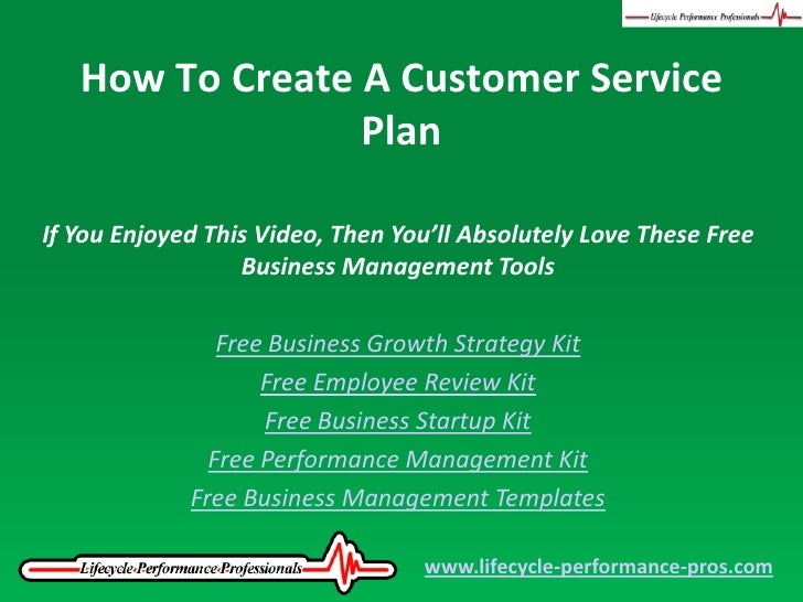Video How To Create A Customer Service Plan