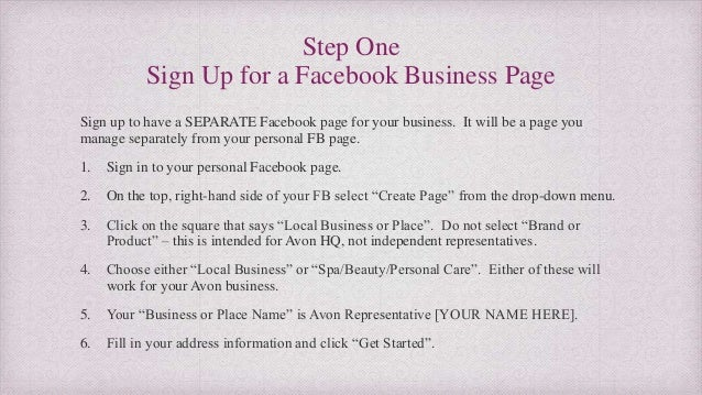 How To Create A Facebook Page To Market Your Avon Business