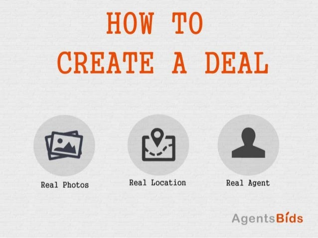 How to create a AgentsBids Deals