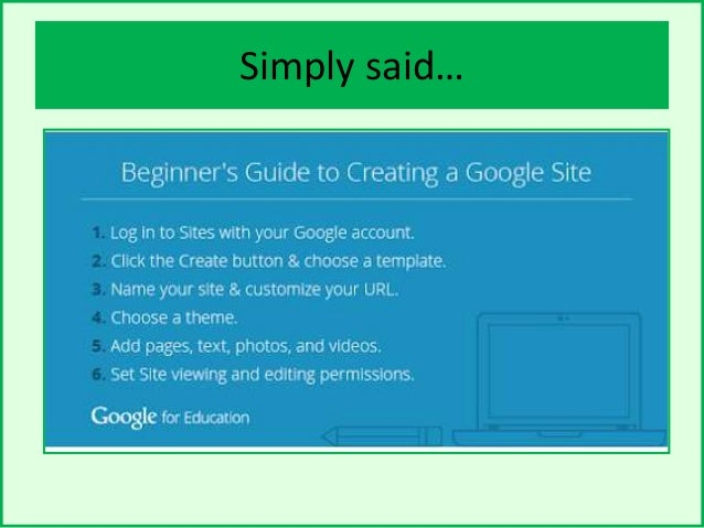 how to create a google site account