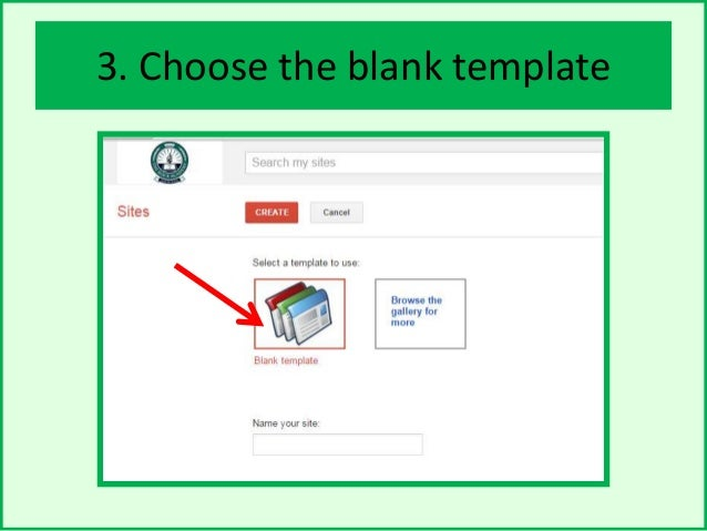 How to create a google site choose the blank template pronofoot35fo Gallery